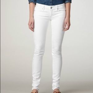 AEO Stretch White Skinny Jeans